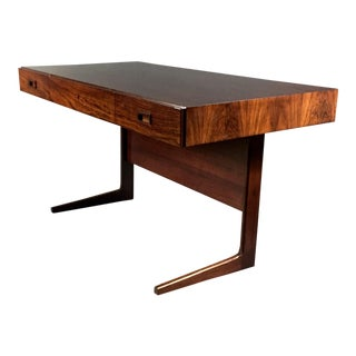 "1970 ""Cassette"" Desk in Rosewood, Style of Georg Petersens For Sale"