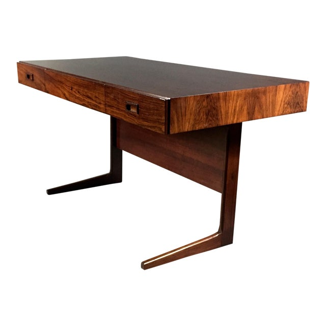 """1970 """"Cassette"""" Desk in Rosewood, Style of Georg Petersens For Sale"""