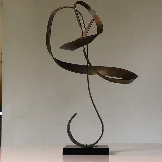 1970s 1970's Kinetic Brass Sculpture by John W Anderson For Sale - Image 5 of 11