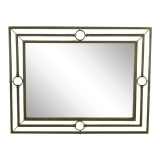 Pottery Barn Metal Square Wall Mirror For Sale