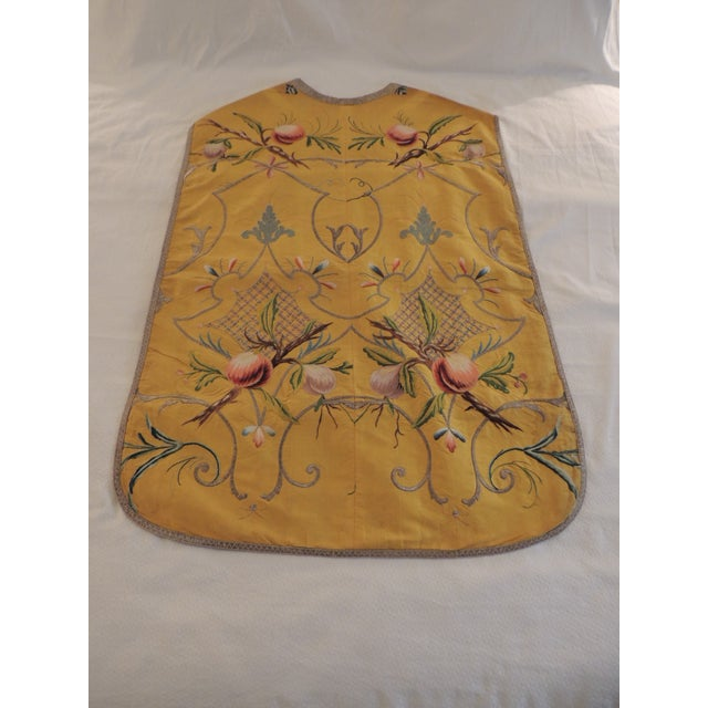Gold and Yellow Embroidered Antique Chasuble For Sale In Miami - Image 6 of 6