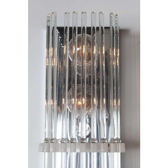 Pair of Crystal Rod Sconces by Lightolier For Sale In New York - Image 6 of 8