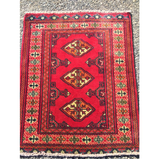 "Vintage Turkaman Red Persian Rug - 2'2"" x 2'9"" - Image 3 of 7"