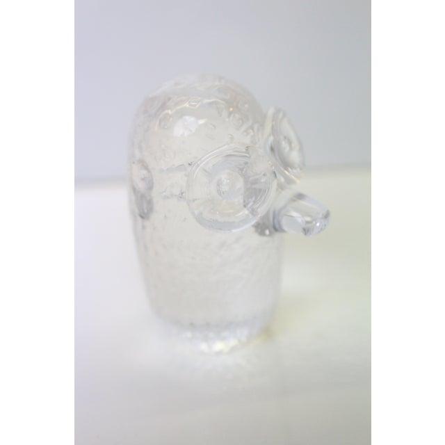A Crystal sculpture Scandinavian ogre paperweight.