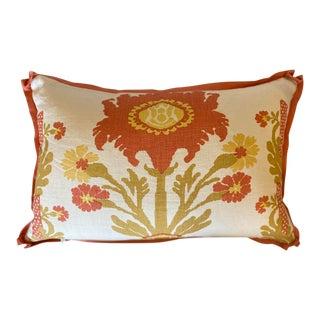 Quadrille Henriot Floral Custom Pillow For Sale