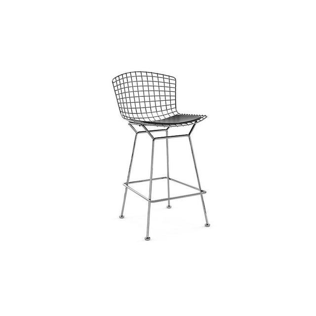Bertoia Counter Stools With Seat Pads - Set of 3 - Image 2 of 11