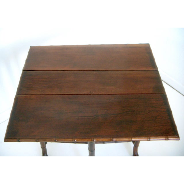 Antique Faux Bamboo Gate Leg Table - Image 8 of 8