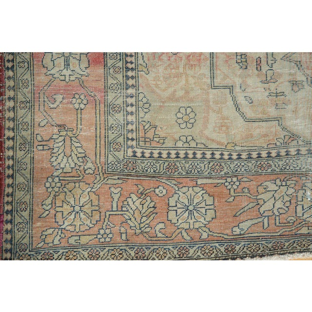 "Antique Kerman Square Rug - 2'11"" X 4' For Sale - Image 12 of 13"