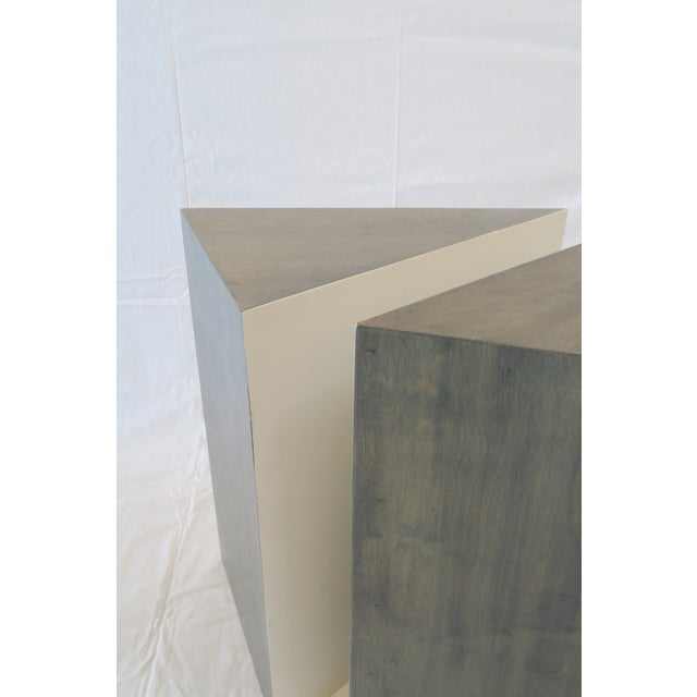 Triangle Side Tables - A Pair - Image 4 of 8
