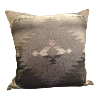 "Ralph Lauren ""Red Rocks"" Italian Wool Blanket Pillow For Sale"