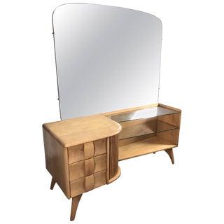 Classic Heywood Wakefield Mid-Century Modern Vanity or Dressing Table For Sale