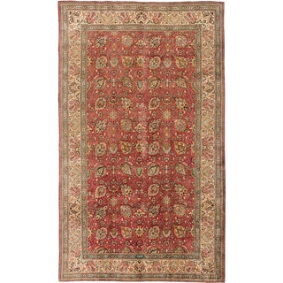 Mid 20th Century Vintage 9'x16' Persian Tabriz Rug For Sale