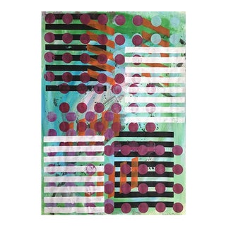 """Stripes and Dots"" Jessalin Beutler Original Painting For Sale"