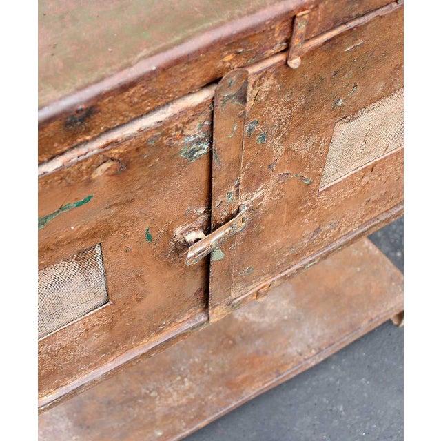 Vintage Industrial Brown Iron Rack - Image 5 of 5