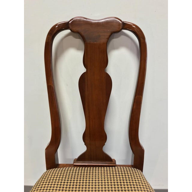 Wood Solid Cherry Queen Anne Dining Side Chairs by Fancher - Pair 2 For Sale - Image 7 of 9