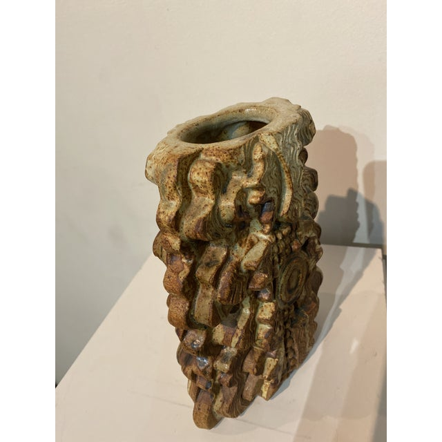 1960s Bernard Rooke Ceramic Stoneware Vase, England, Circa 1960 For Sale - Image 5 of 8