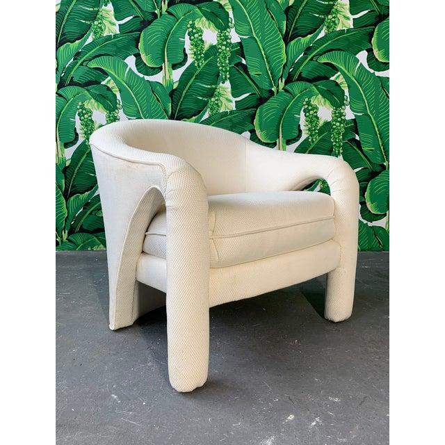 Hollywood Regency Pair of Vladimir Kagan Sculptural Club Chairs For Sale - Image 3 of 11