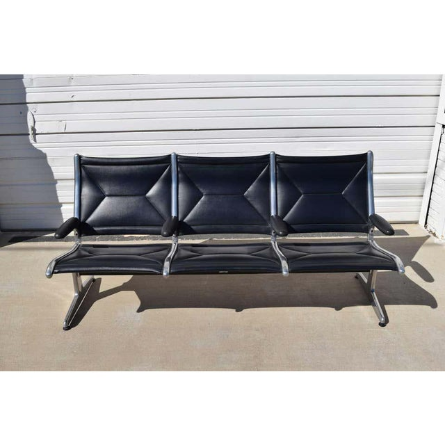 Offering an iconic tandem sling airport bench designed by Ray & Charles Eames for Herman Miller. The Eames were...