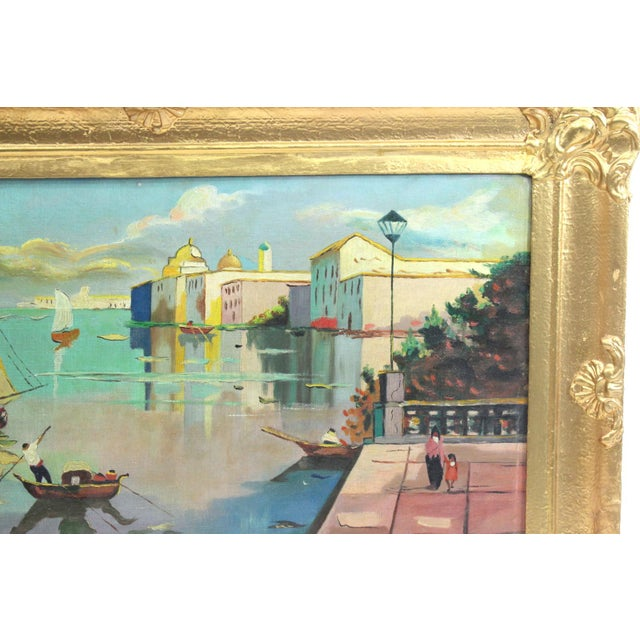 1930s Beach Mediterranean Fine Oil Painting - Image 6 of 9