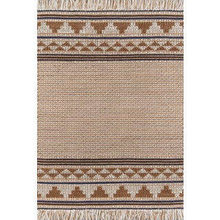 "Esme Ivory Hand Woven Area Rug 3'9"" X 5'9"" For Sale"