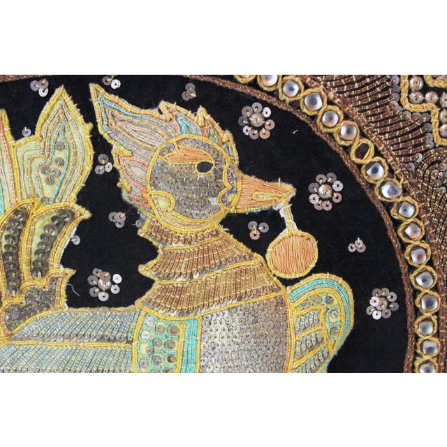 Art Deco Pasargad DC Hand Made India Beaded Turkey Raised Wall Art For Sale - Image 3 of 10