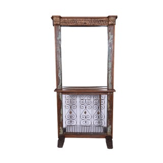 Rustic Style Wooden Mirror Dresser For Sale