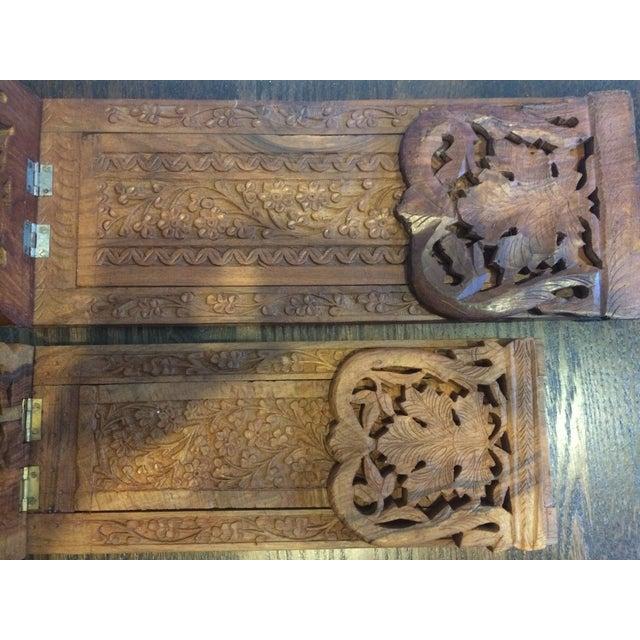 Folding Teak Bookstands - Pair - Image 7 of 7