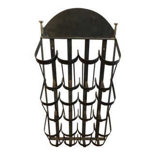 Sculptural Iron Wine Rack For Sale
