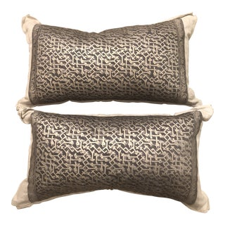 Vintage Art Deco Pillows - A Pair For Sale