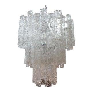 1960's Mid-Century Murano Glass Chandelier-Venini Style For Sale