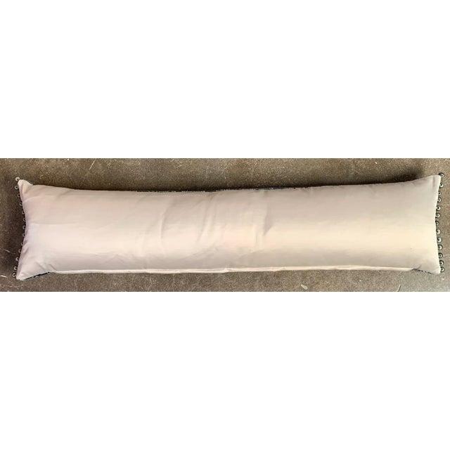 Modern Sora Velvet Lumbar Pillow With Ivory Silk Back For Sale - Image 3 of 10