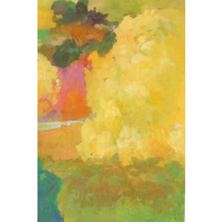 """""""Mimosa"""" Contemporary Abstract Botanical Oil Painting by Ann Cameron McDonald For Sale"""