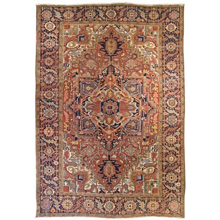 Vintage Persian Heriz Rug For Sale