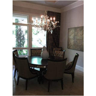 Traditional Marge Carson Astoria Dining Table & Chairs- 7 Pieces Preview