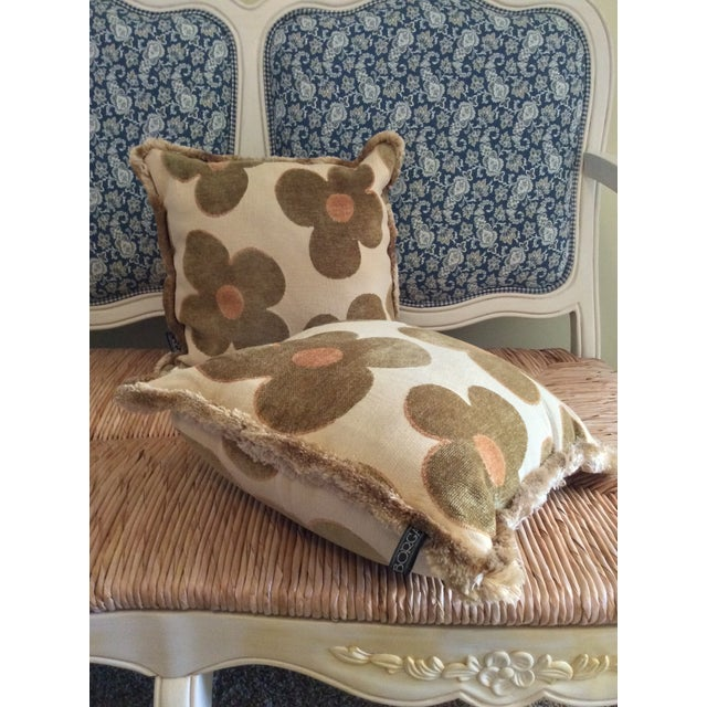 1980s 1980s Vintage Borgata Crazy Flower Pillows - a Pair For Sale - Image 5 of 11