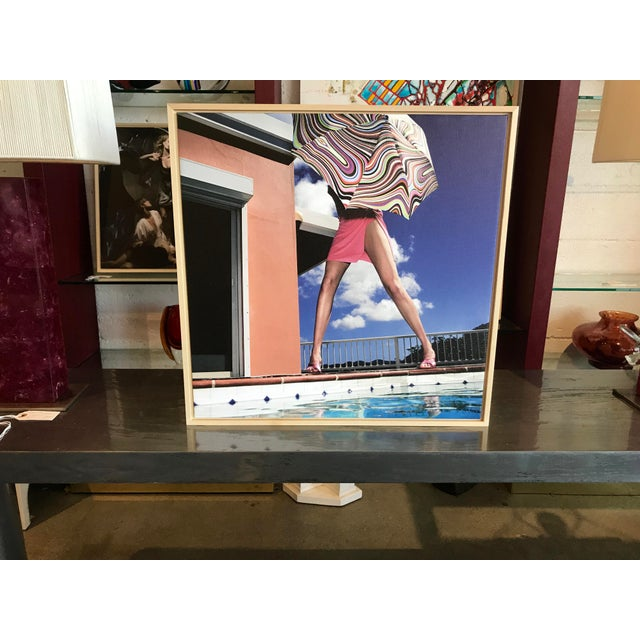 """Nicola Majocchi """"Umbrella With Legs"""" Photograph 2003 St. John, v.i. For Sale In Palm Springs - Image 6 of 6"""