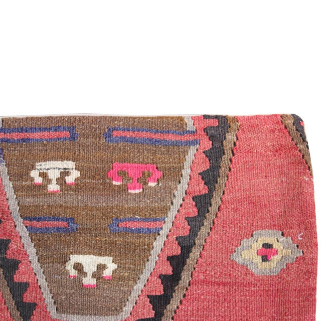 Vintage 1960s Turkish Kilim Pillow Cover - Image 3 of 5