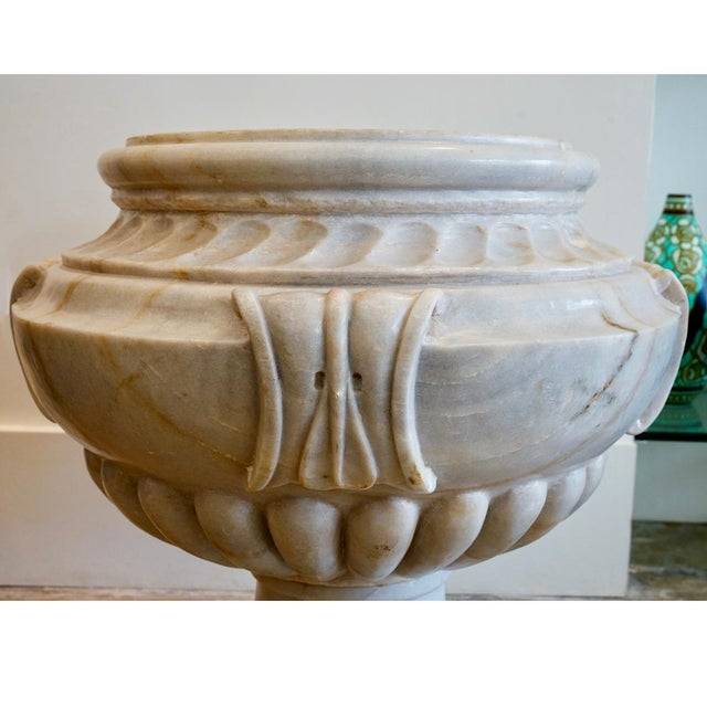 Italian Italian Marble Planter For Sale - Image 3 of 5