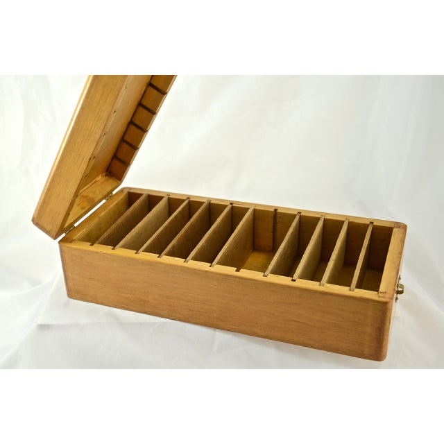 Handcrafted Wood Box with Dividers Inside - Image 3 of 7
