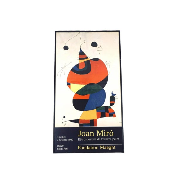 Abstract Vintage 1990 Miro at Foundation Maeght Exhibition Poster For Sale - Image 3 of 3