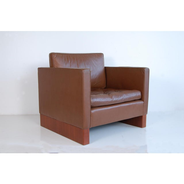 Brown Vintage Mid Century Mies Van Der Rohe Lounge Chair For Sale - Image 8 of 9