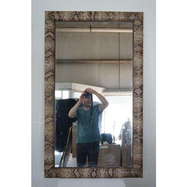 """""""Snake Skin"""" Vintage Mirror For Sale - Image 4 of 9"""