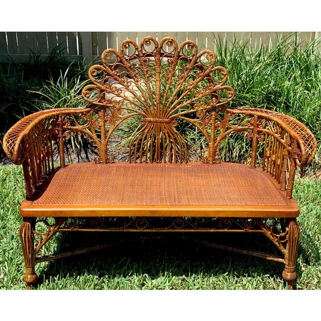 High Victorian Wicker Parlour Set - Set of 6 For Sale - Image 4 of 13
