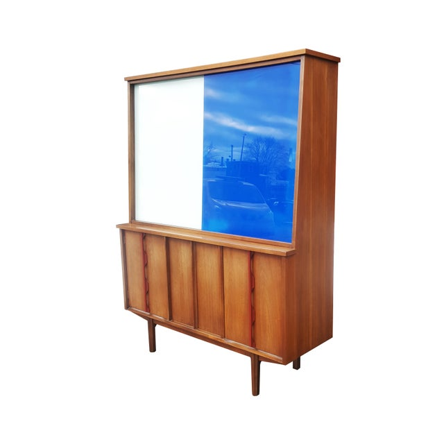 Finn Juhl 1970s Mid-Century Modern/Brutalist Display Cabinet/Hutch For Sale - Image 4 of 7