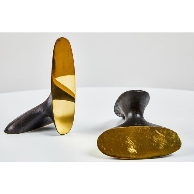 Carl Auböck Model #3653 Brass Bookends - A Pair For Sale In Los Angeles - Image 6 of 8