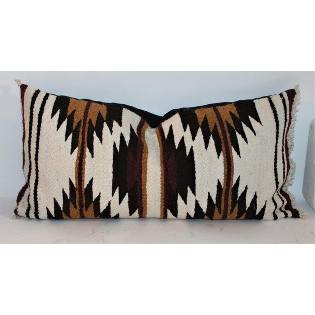 Boho Chic Navajo Indian Saddle Weaving Pillows - Set of 2 For Sale - Image 3 of 12