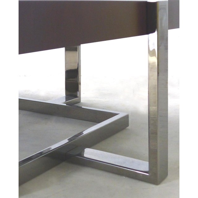 Modern La Spada & Mazza for Medea Coffee Table in Palisades and Chrome, Italy For Sale - Image 3 of 6
