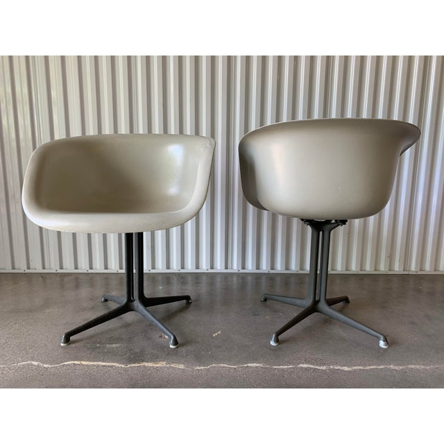 Ultra rare pair of Eames for Herman Miller 1730 chairs or commonly known as La Fonda chairs. This pair is rare due to its...