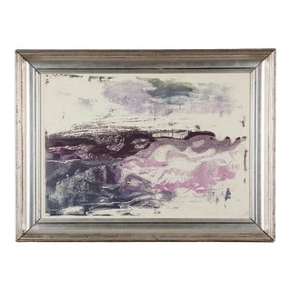 1960s Abstract Landscape Serigraph by Paul Chidlaw, Framed For Sale