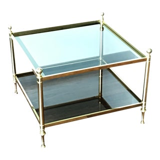 Vintage Maison Brass Coffee Table For Sale